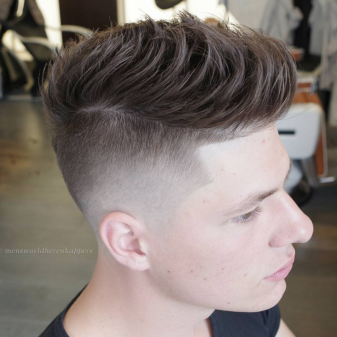 Skin Fade With a Disconnected Quiff