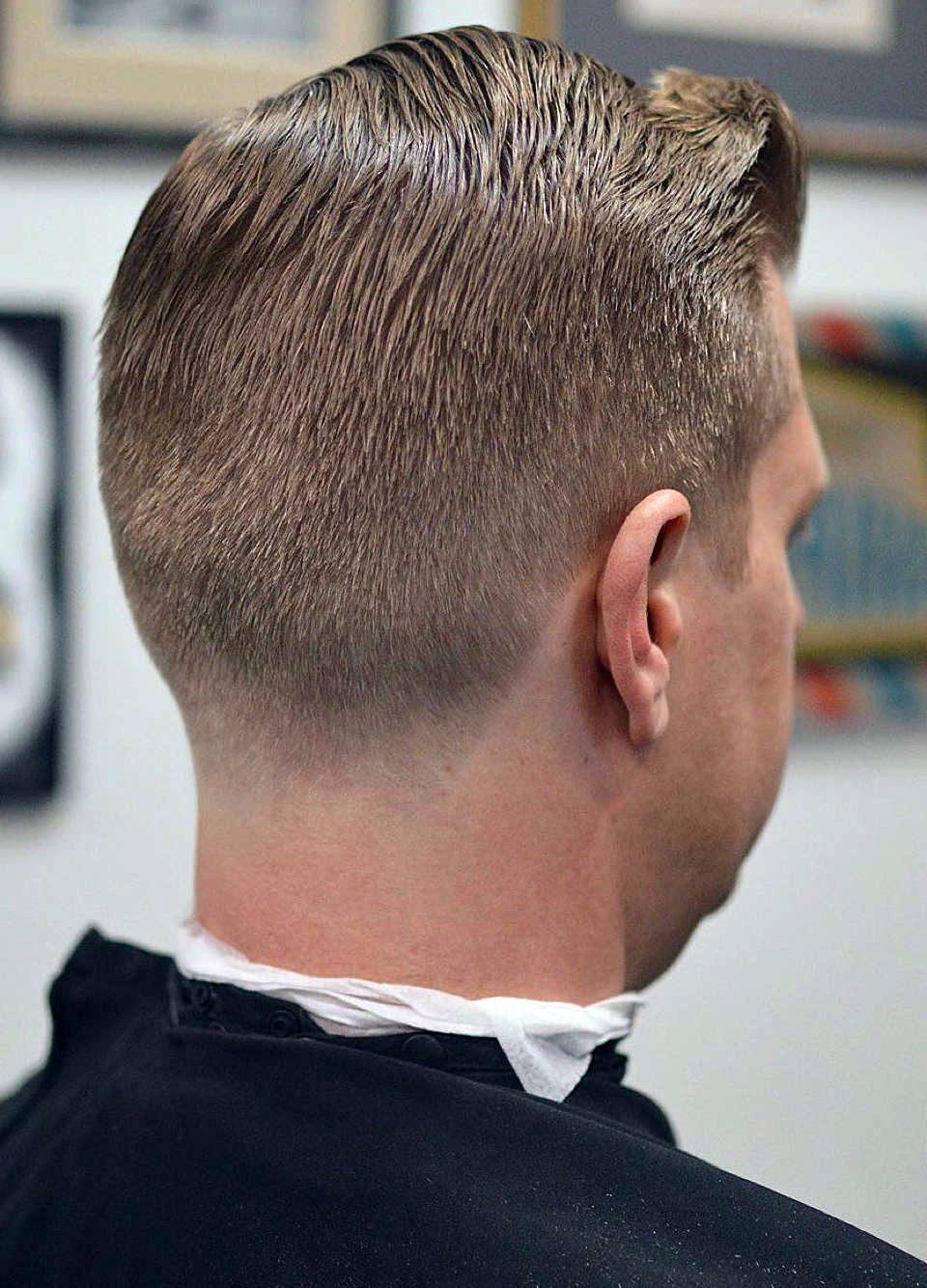 tapered neckline