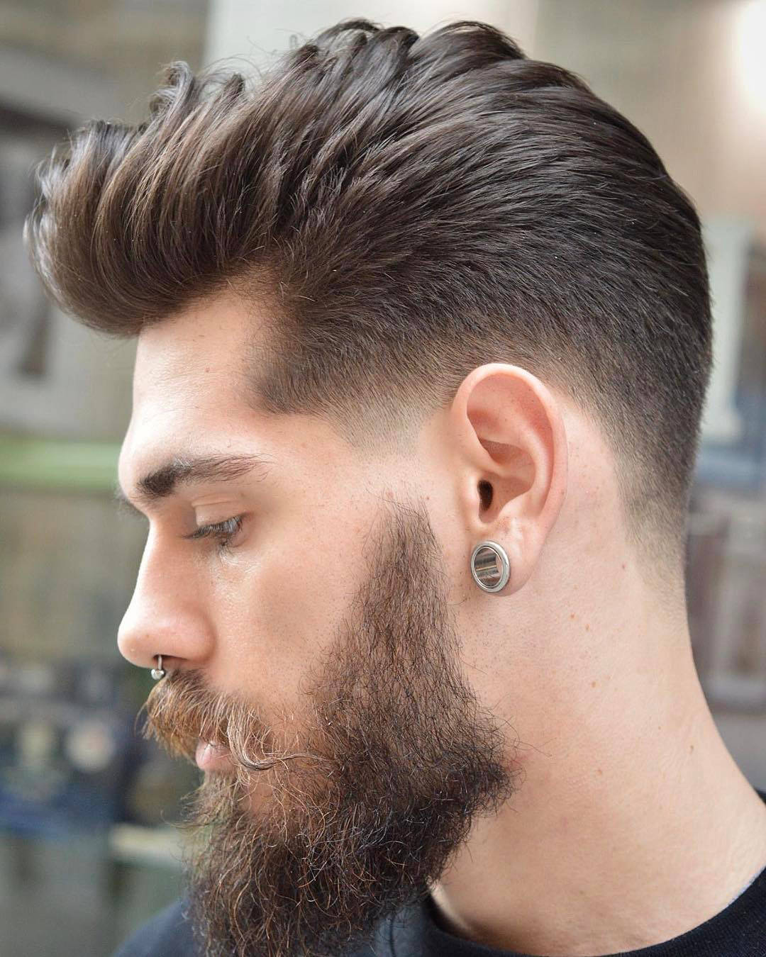 Tapered Skin Fade Pompadour