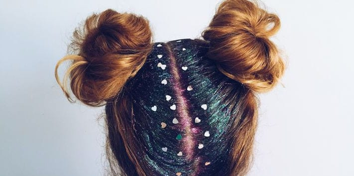 How to perfect this season's sparkling trend : The 'Glitter Parting'